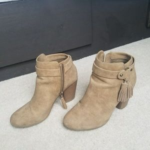 Tan Material Girl booties